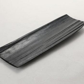 拭漆 黒 スギ材 長皿参考②