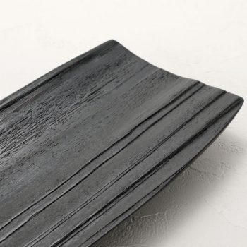 拭漆 黒 スギ材 長皿参考⑤