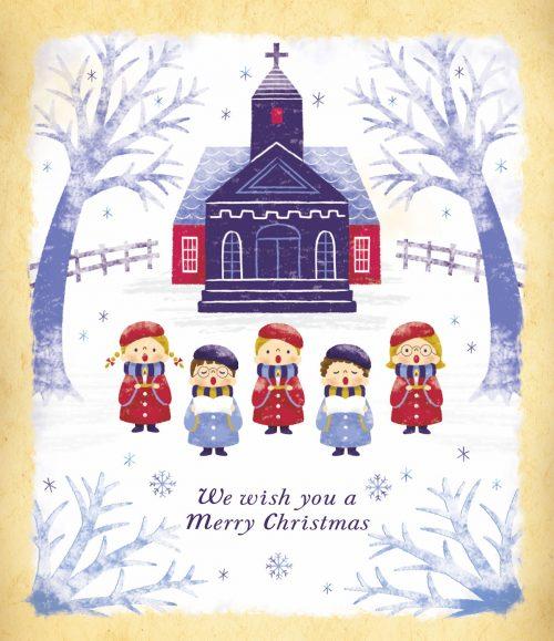 「クリスマスおめでとう」 プリント(単体)
