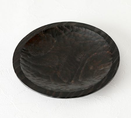 リム皿 拭漆仕上げ 八寸 クリ材