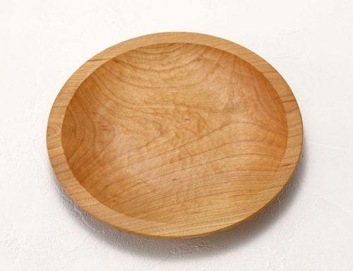 リム皿 八寸 サクラ材