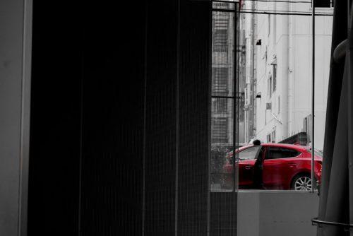 「赤い車」プリント(単体)